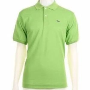 Lacoste Pique Polo Lime Green Size 8--Gently Used